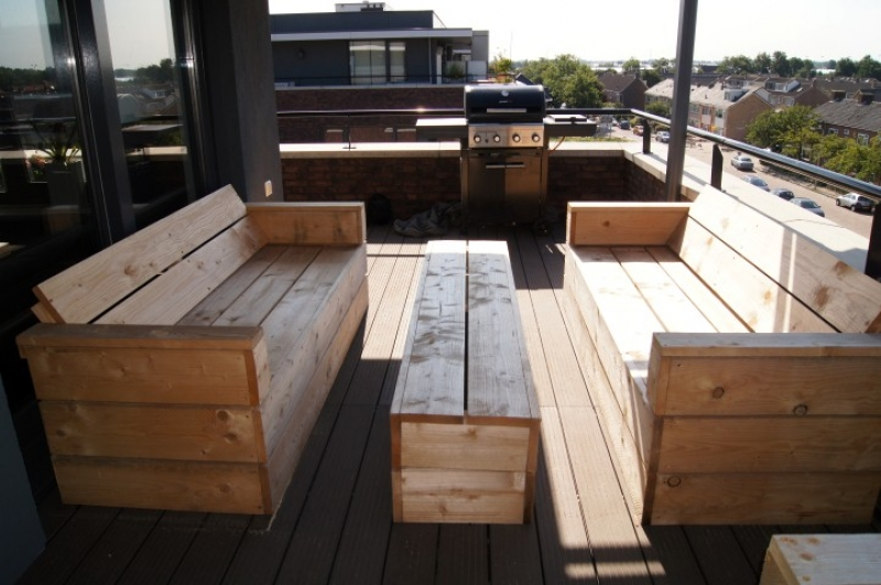 Van den ende tuinaanleg onderhoud hout tuinmeubilair veranda 39 s - Tuin meubilair ...